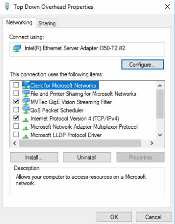 Gigabit Ethernet & GigE Vision camera network